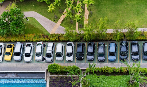 Widok z góry z parkingu