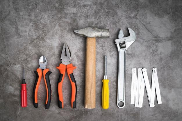 Widok z góry zestaw narzędzi