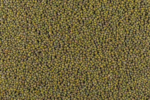 Widok z góry zielonego groszku