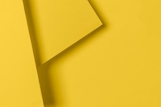 Widok z góry żółte szafki