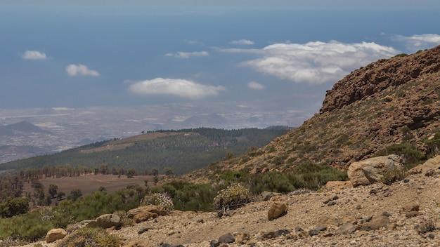 Widok z guajary na południu teneryfy.