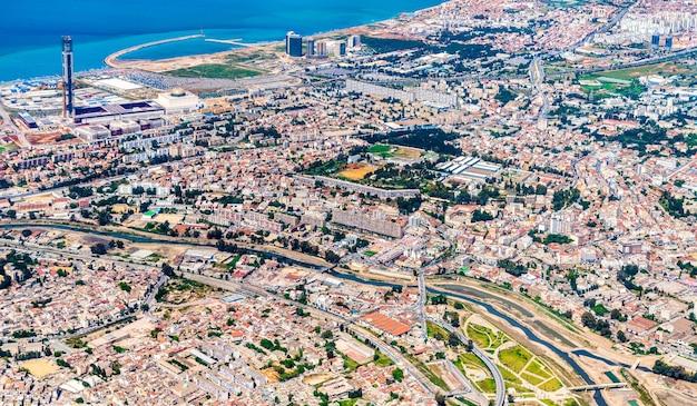 Widok z lotu ptaka algieru, stolicy algierii, afryki północnej