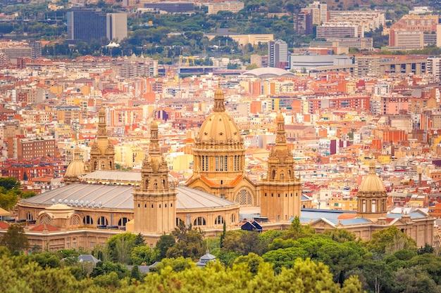 Widok z lotu ptaka barcelona, katalonia, hiszpania