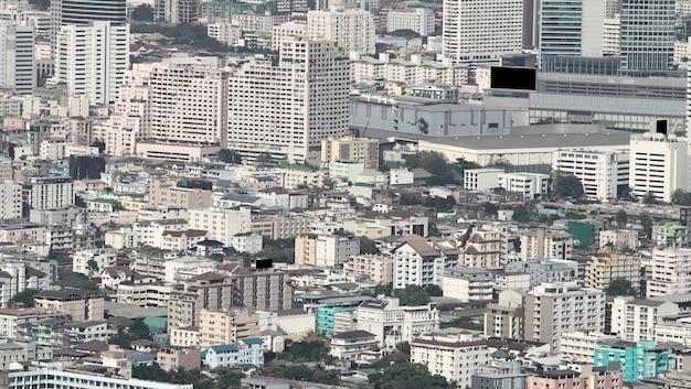 Widok z lotu ptaka budynków w bangkok