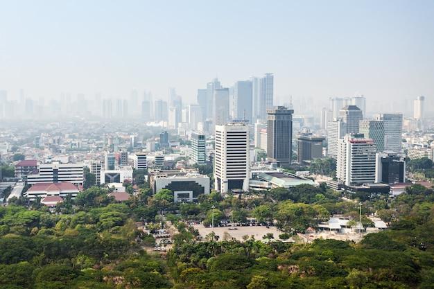 Widok z lotu ptaka dżakarta
