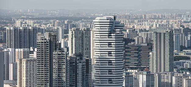 Widok z lotu ptaka dzielnic mieszkaniowych singapuru