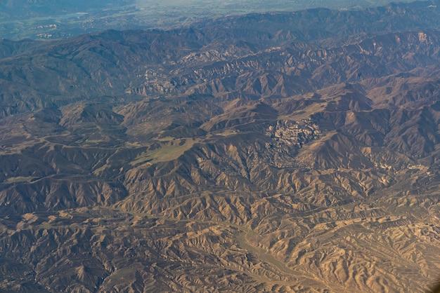 Widok z lotu ptaka kalifornia san andreas