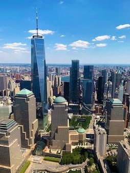Widok z lotu ptaka miasto nowy jork
