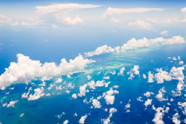 Widok z lotu ptaka na bahamy