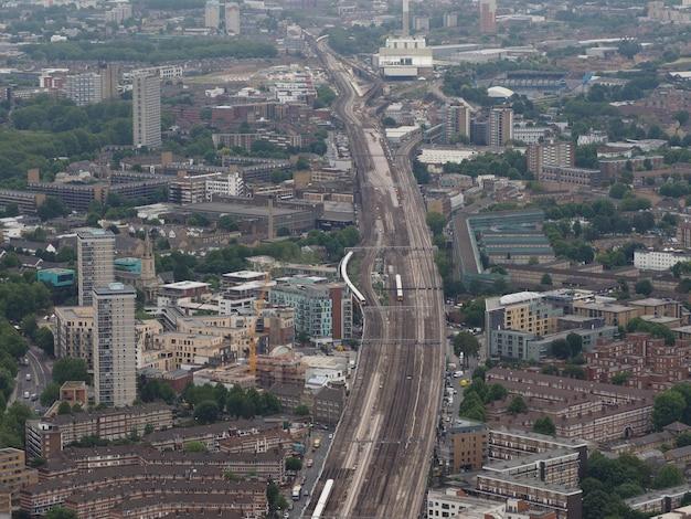 Widok z lotu ptaka na londyn