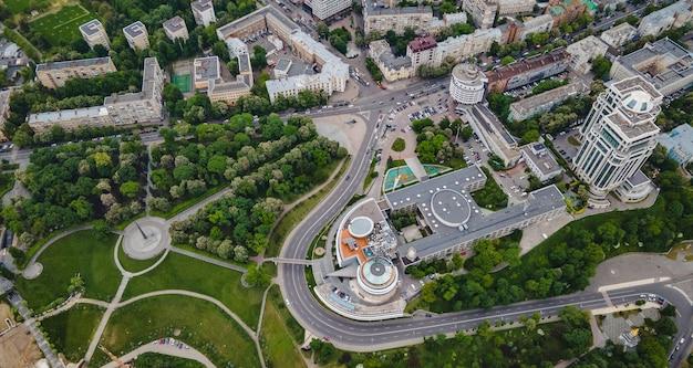 Widok z lotu ptaka na miasto kijów