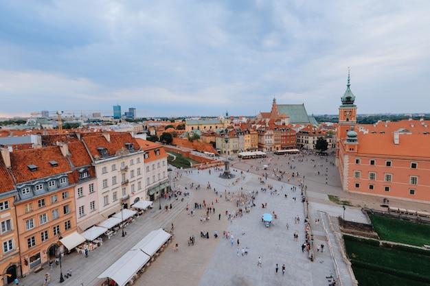 Widok z lotu ptaka na stare miasto