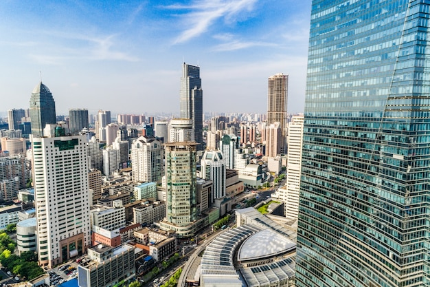 Widok z lotu ptaka na szanghaj