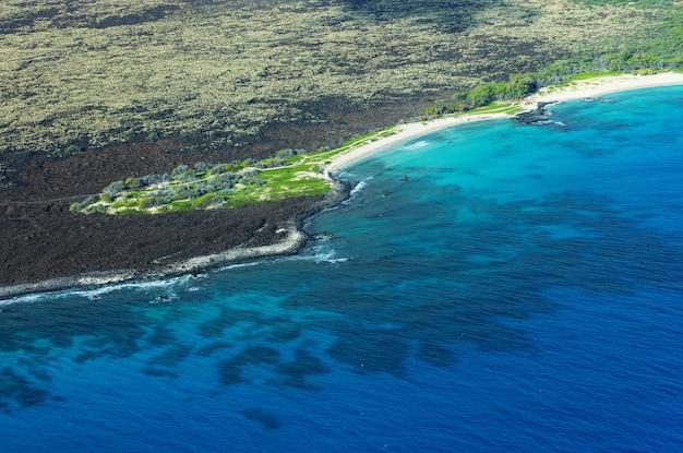 Widok z lotu ptaka na wyspę maui, hawaje, usa