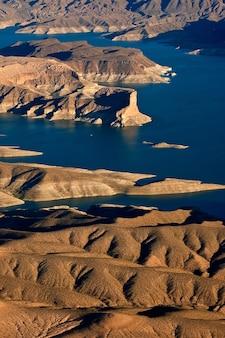 Widok z lotu ptaka na wyspę