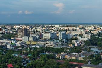 Widok z lotu ptaka Nakhon Ratchasima miasto lub Korat, Tajlandia