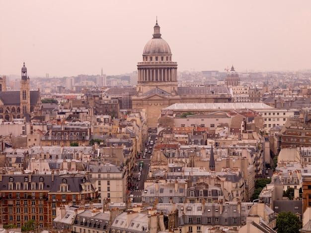 Widok z lotu ptaka paryż francja