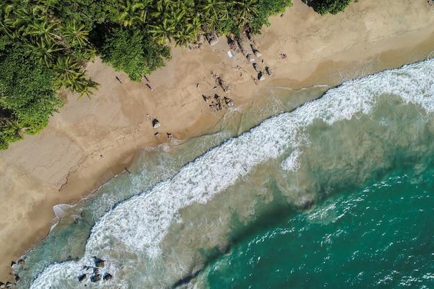 Widok z lotu ptaka plaża thailand