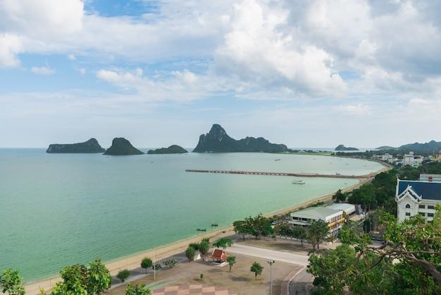Widok z lotu ptaka plaża w tajlandia