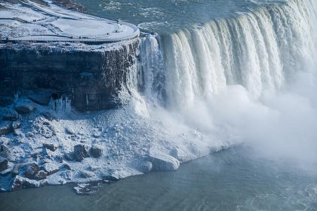 Widok z lotu ptaka wodospad nigara