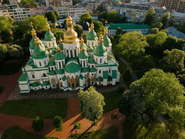 Widok z lotu ptaka z katedry św. zofii w kijowie
