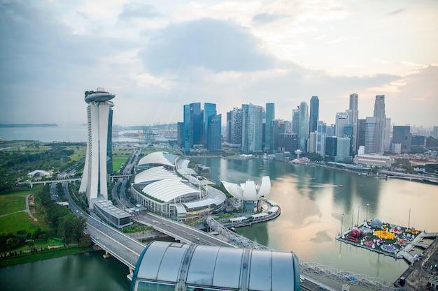 Widok z lotu ptaka z singapore flyer