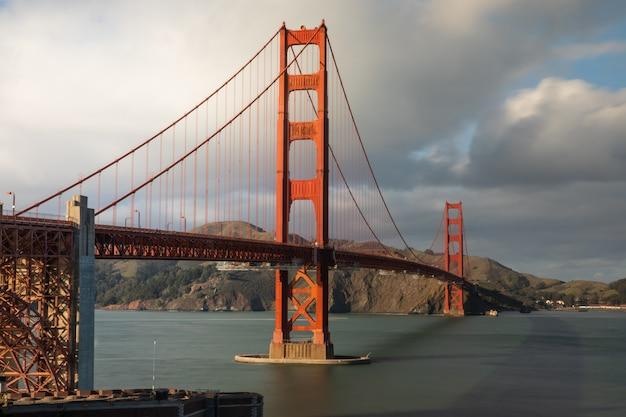 Widok z mostu golden gate w san francisco w kalifornii