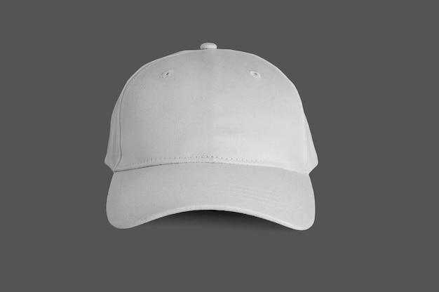 Widok z przodu białej czapki