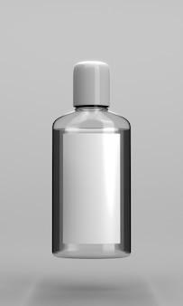 Widok z przodu butelki odkażacza do rąk