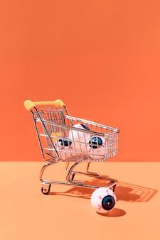 Widok z przodu halloweenowe zabawki z gałkami ocznymi