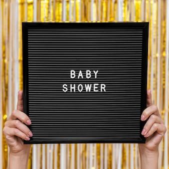 Widok z przodu koncepcja baby shower party