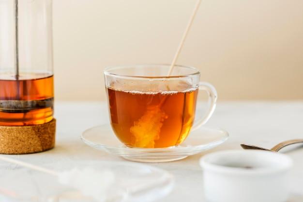 Widok z przodu koncepcji herbaty ziołowe