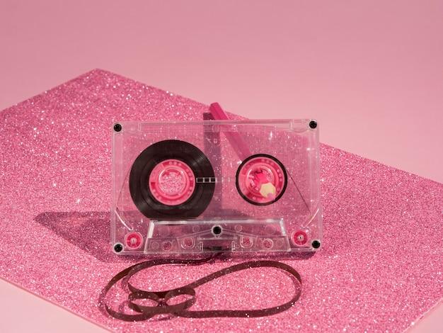 Widok z przodu koncepcji muzyki z kasetą