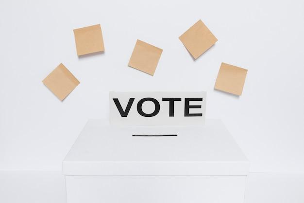 Widok z przodu koncepcji wyborów z miejsca kopiowania