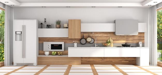 Widok z przodu nowoczesnej kuchni