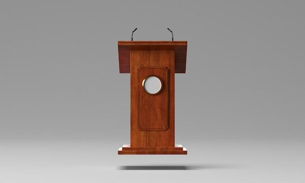 Widok z przodu podium na wybory w usa