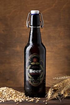Widok z przodu smaczna kompozycja amerykańskiego piwa