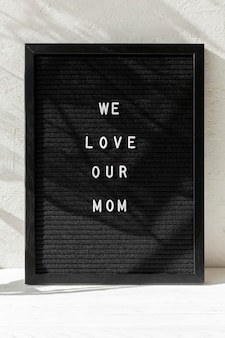 Widok z przodu wiadomość dzień matki happy