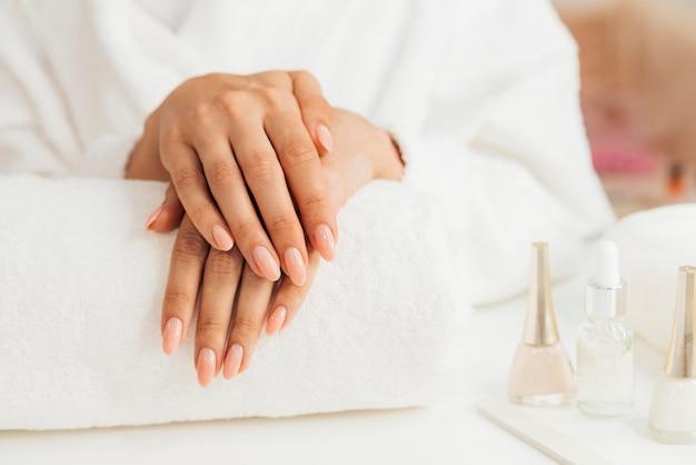 Widok Z Przodu Zdrowy Piękny Manicure Darmowe Zdjęcia
