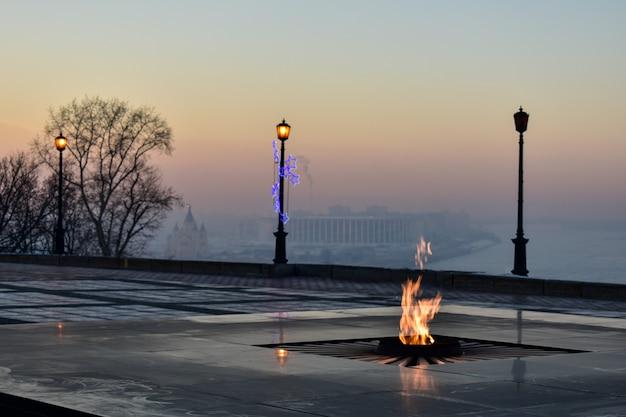 Wieczny ogień na kremlu. niżny nowogród