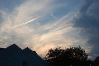 Wieczorne niebo, niebo