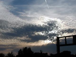 Wieczorne niebo, wieczorem
