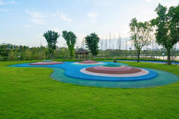 Wiejski central park, naturalna sceneria, dystrykt tongliang