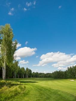 Wiejskie pole golfowe.