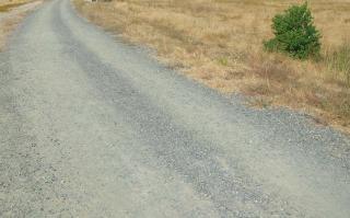 Wiejskiej drodze, krajobraz