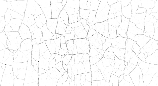 Wiele chaotycznych pęknięć na powierzchni teksturowanego materiału.