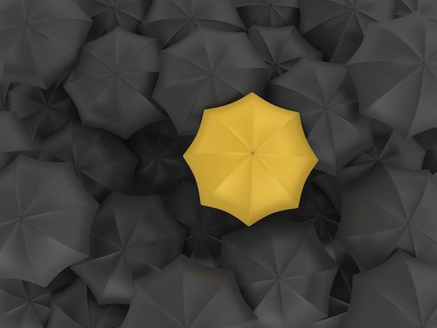 Wiele parasoli z jednym innym