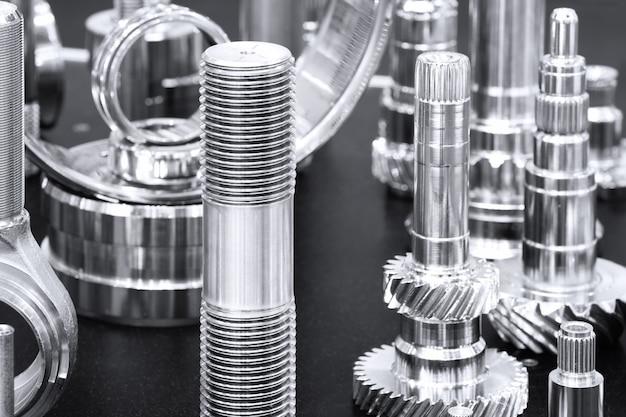 Wiele rodzajów metalowych detali tła wzornictwa przemysłowego