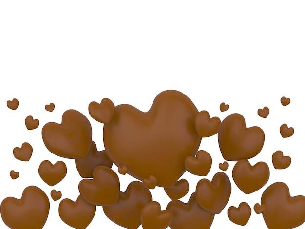 Wiele różnych czekoladowych serc
