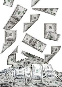 Wielka kupa pieniędzy. dolary usa
